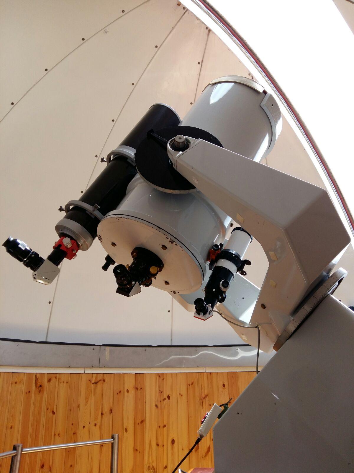 Il telescopio principale con il nuovissimo Lunt.