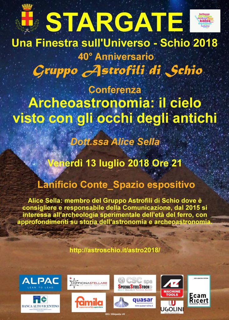 luglio 2018 archeoastronomia