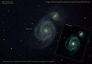 M51 con SN 2011 dh